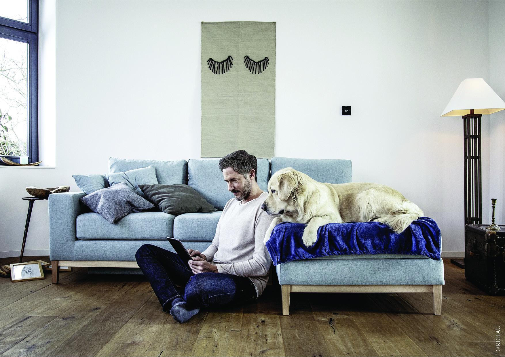 Un plancher chauffant pour diffuser la bonne température dans votre maison
