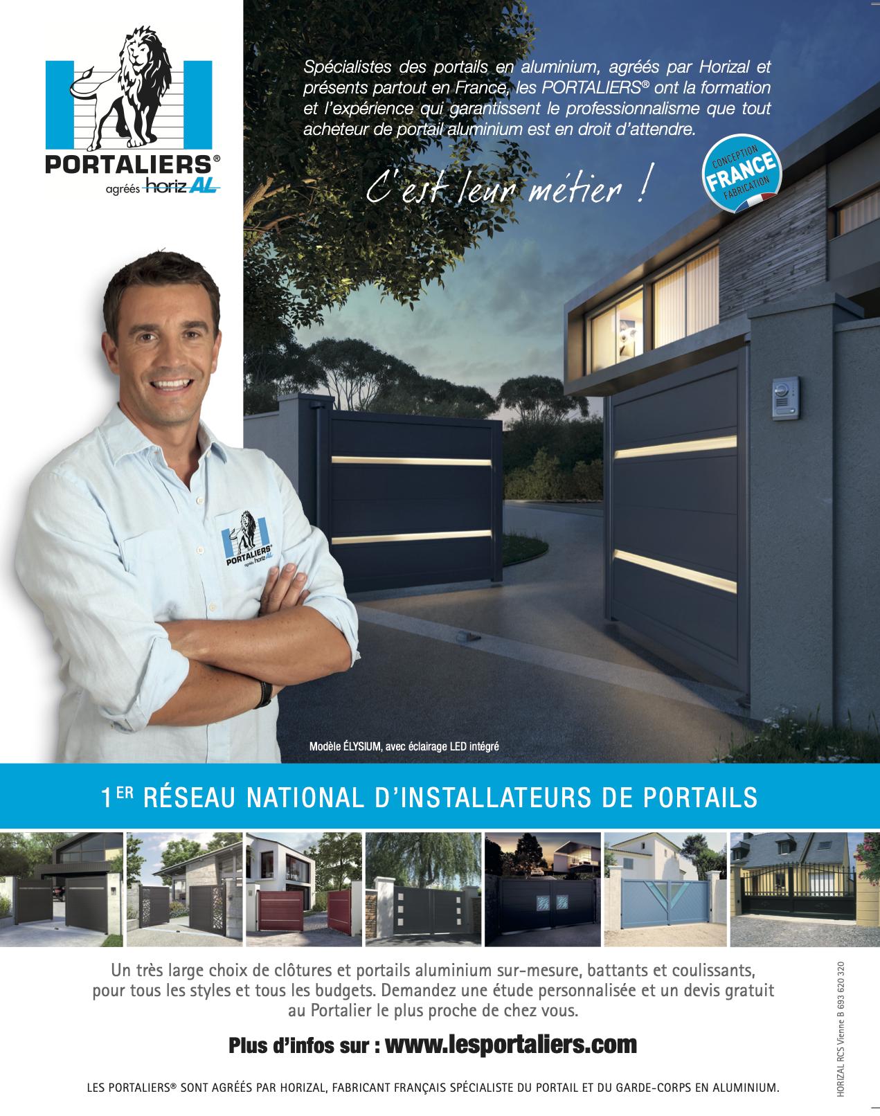 Les Portaliers® agréés Horizal: Nouveaux portails design et tendance, cap sur votre entrée !