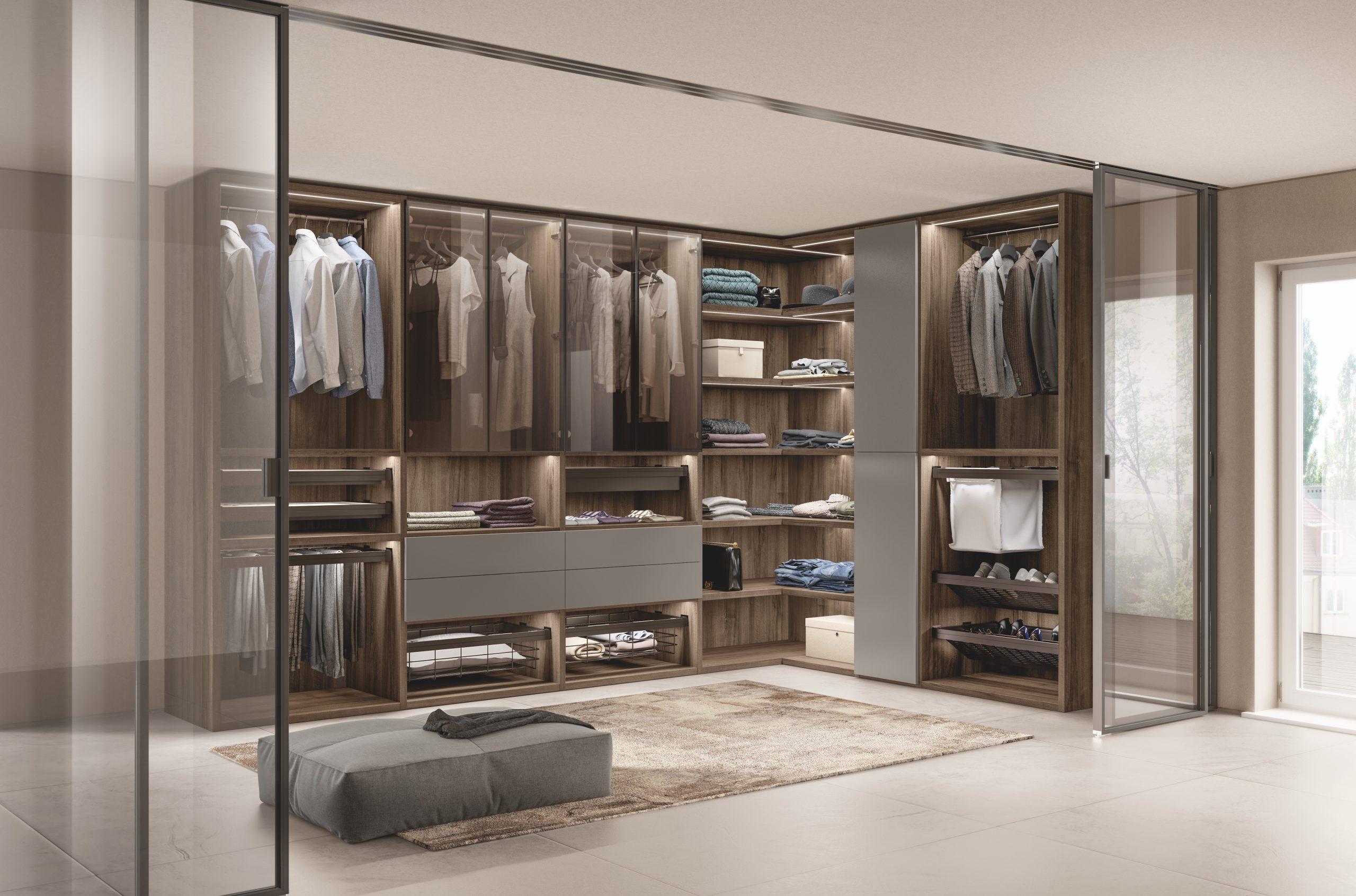 Scavolini : Un dressing entièrement modulable pour organiser votre garde-robe