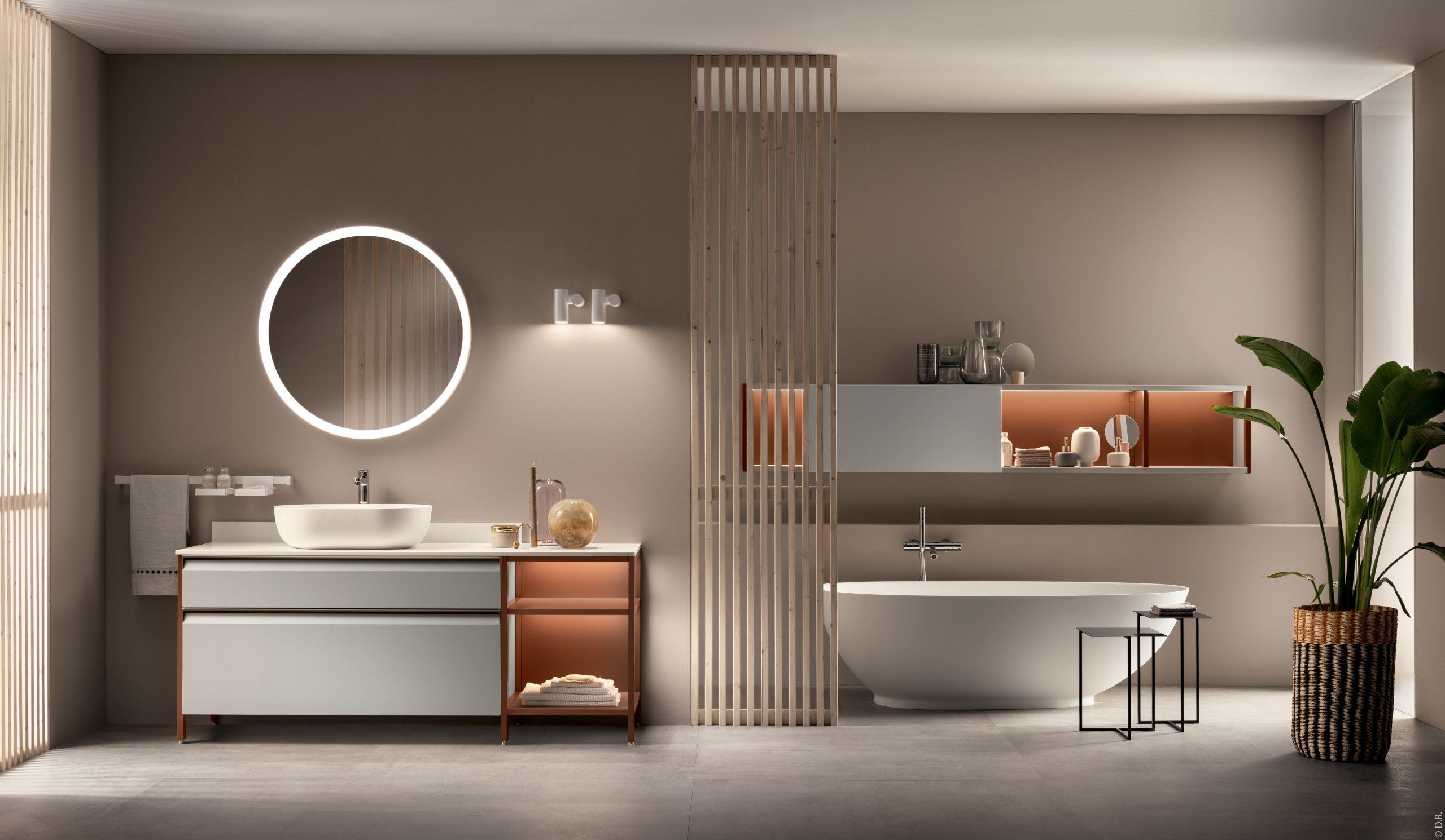Scavolini : la nouvelle salle de bains Formalia, une icône de style signée Vittore Niolu.